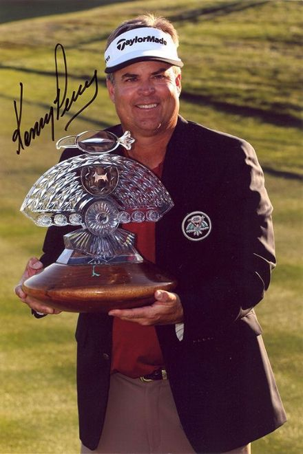 Kenny Perry, PGA Tour golfer, signed 12x8 inch photo.